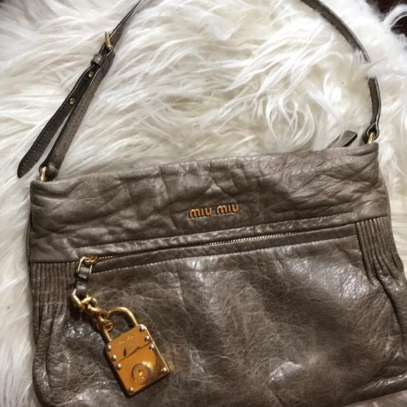 d97ea49bd6 Miu Miu Nappa Leather Small Shoulder Bag. M 5b28123c5c445299340fefad